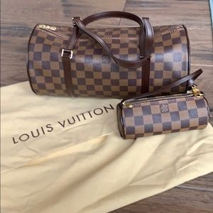 Louis Vuitton papillon with mini bag included.